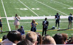 The crowning of Seniors Hannah Faiq and Solomon Washington
